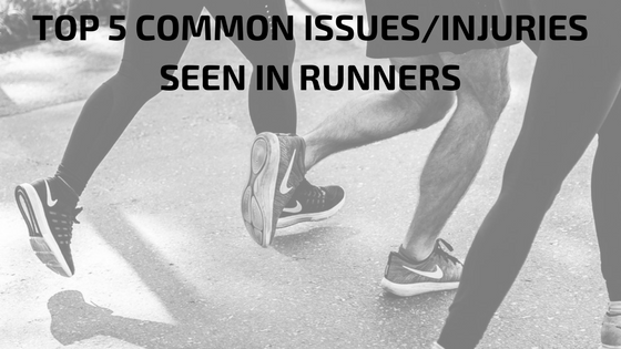 TOP 5 COMMON ISSUESINJURIES SEEN IN RUNNERS