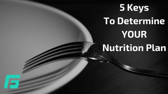5 Keys To Determine YOUR Nutrition Plan